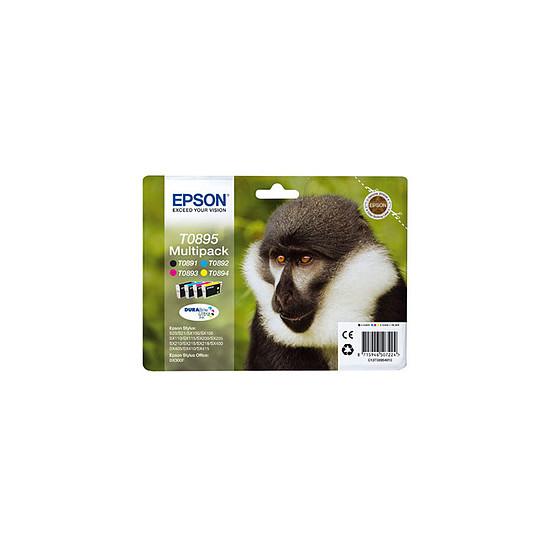 Cartouche imprimante Epson T0895 Multipack BK/C/M/J - C13T08954010