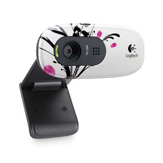 Webcam Logitech C270 - Fingerprint Flowers
