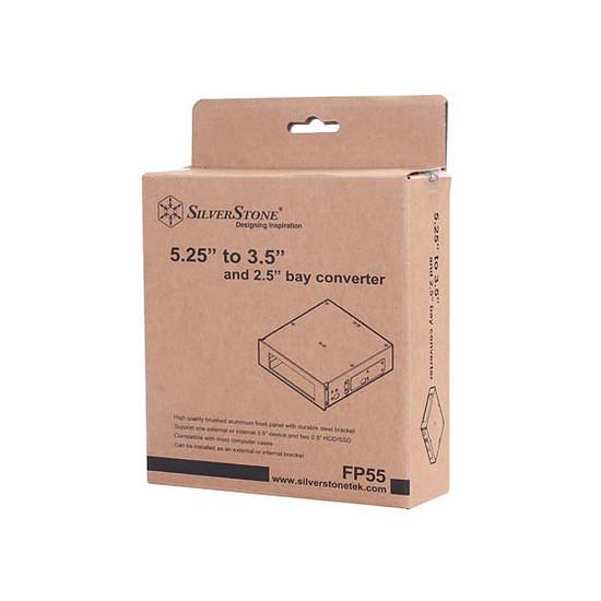 """Rack disque dur interne Silverstone Adaptateur 5,25"""" vers 2,5 '' - FP55 (Noir) - Autre vue"""