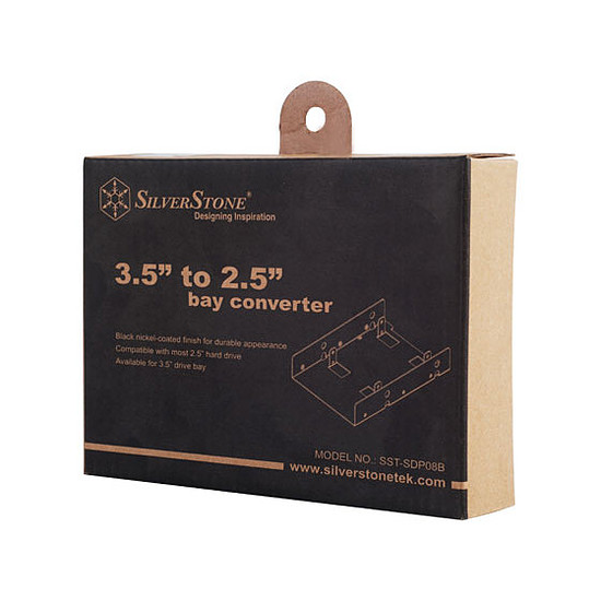 """Rack disque dur interne Silverstone Adaptateur 3,5"""" vers 2 x 2,5"""" - SDP08B - Autre vue"""