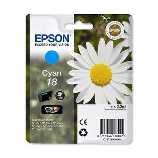 Cartouche d'encre Epson T1802 Cyan - C13T18024010