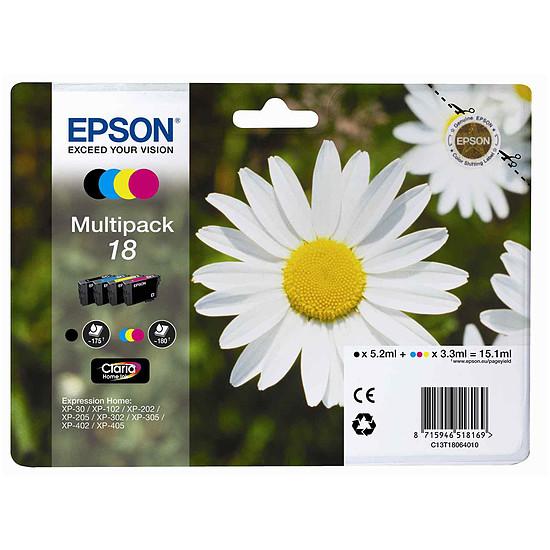 Cartouche imprimante Epson T1806 Multipack C/M/J/N - C13T18064010