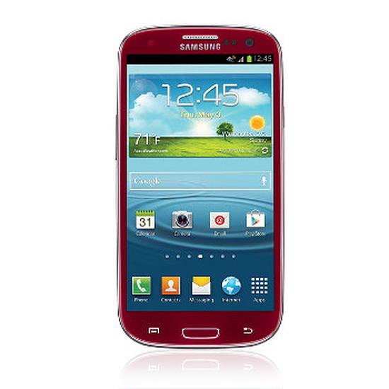 Smartphone et téléphone mobile Samsung Galaxy S3 (rouge)