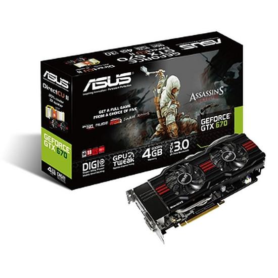 Carte graphique Asus GeForce GTX 670 DCU II - 4 Go (GTX670-DC2-4GD5)