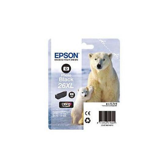 Cartouche imprimante Epson T2631 XL Noir Photo - C13T26314010