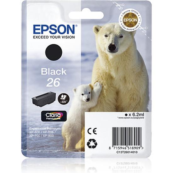 Cartouche imprimante Epson 26 Noir - C13T26014010