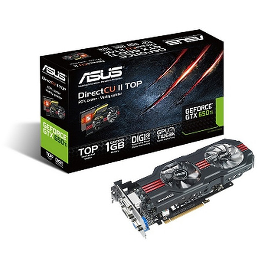 Carte graphique Asus GeForce GTX 650 Ti DC2T- 1 Go (GTX650TI-DC2T-1GD5)