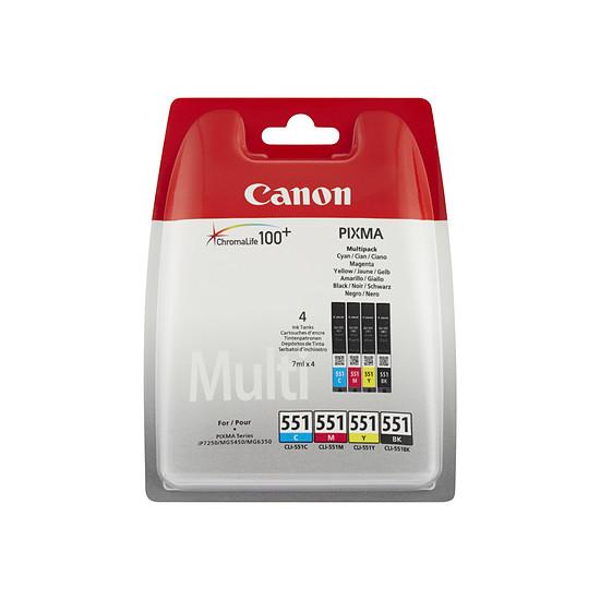 Cartouche imprimante Canon Multipack CLI-551 C/M/Y/BK - Autre vue