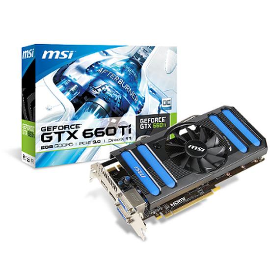 Carte graphique MSI GeForce GTX 660 Ti OC - 2 Go