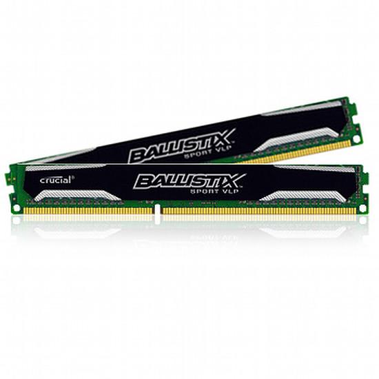 Mémoire Ballistix Sport VLP DDR3 2 x 4 Go 1600 MHz CAS 9