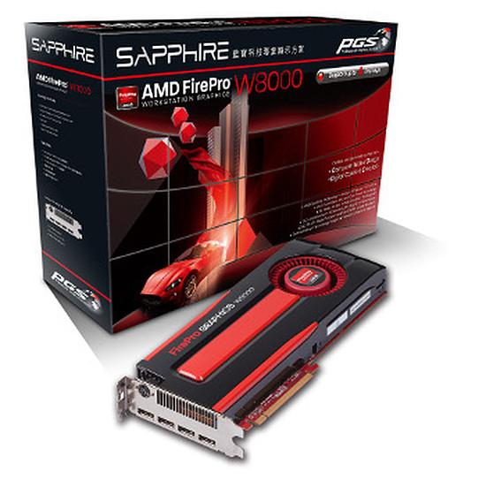 Carte graphique pro Sapphire FirePro W8000 - 4 Go