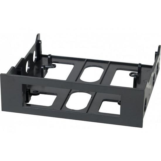 """Rack disque dur interne  Adaptateur baie 3,5"""" vers 5,25"""" (noir)"""