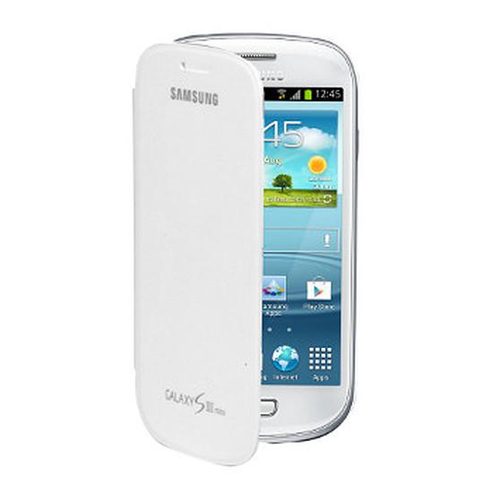 Coque et housse Samsung Etui Flip Cover EFC-1M7FW - Galaxy S3 mini (blanc)