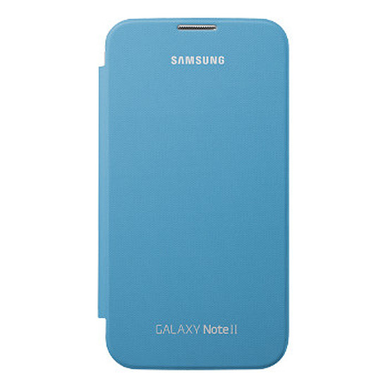 Coque et housse Samsung Etui Flip Cover EFC-1J9FB - Galaxy Note 2 (bleu)