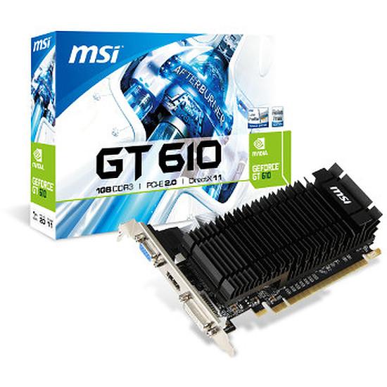 Carte graphique MSI GeForce GT 610 - 1 Go - Passive (N610-1GD3H/LPV1)