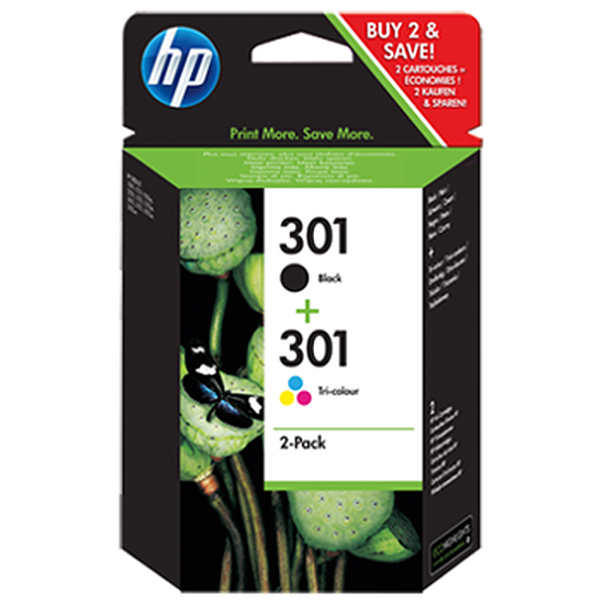 Cartouche imprimante HP Combo Pack n°301 - CR340EE B/C/M/J