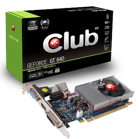 Carte graphique Club 3D GeForce GT 640 - 1 Go (Low Profile)