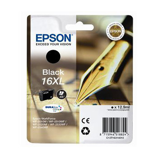 Cartouche imprimante Epson T1631 XL Noir - C13T16314010