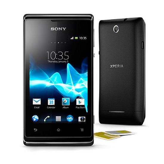 Smartphone et téléphone mobile Sony Mobile Xperia E Dual - Double SIM (noir)