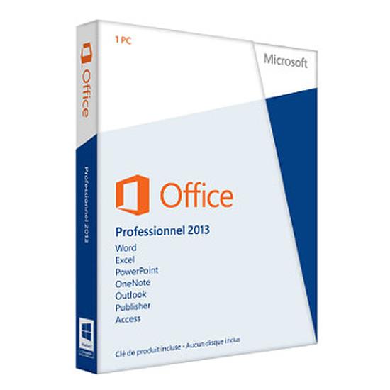 Office Microsoft Office Professionnel 2013 - 1 poste