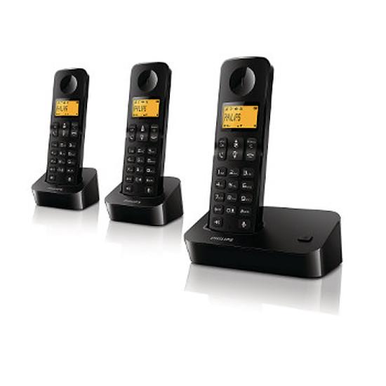 Téléphone fixe sans fil Philips D2003B Trio (noir)