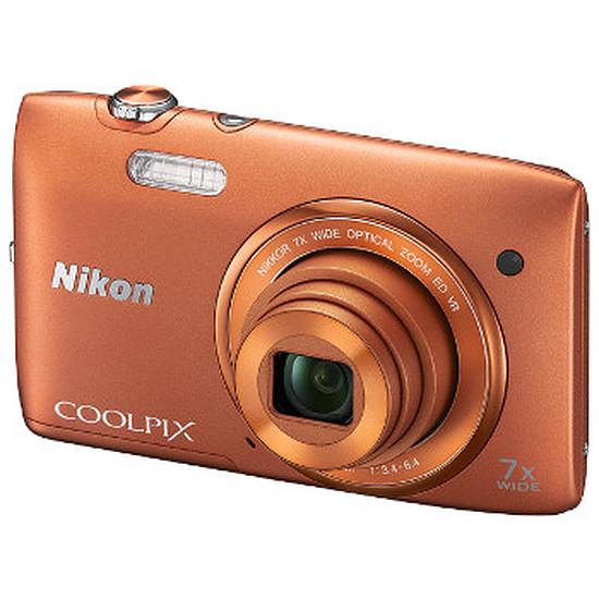 Appareil photo compact ou bridge Nikon Coolpix S3500 Orange