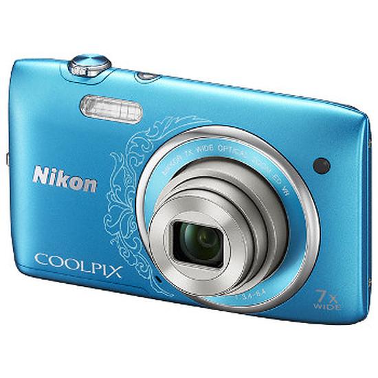 Appareil photo compact ou bridge Nikon Coolpix S3500 Bleu Lineart