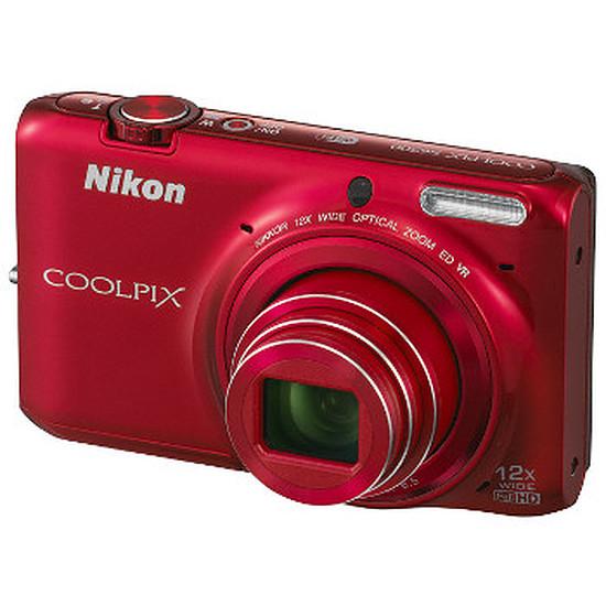 Appareil photo compact ou bridge Nikon Coolpix S6500 Rouge
