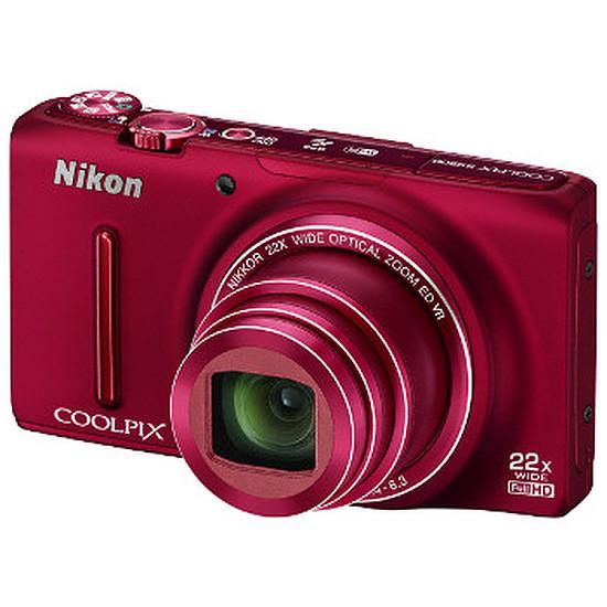 Appareil photo compact ou bridge Nikon Coolpix S9500 Rouge