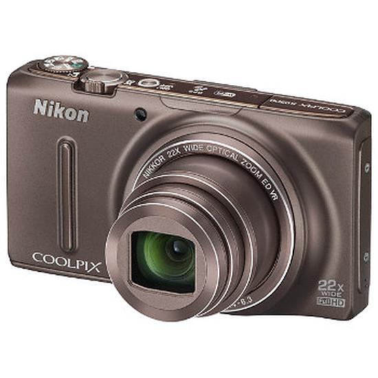 Appareil photo compact ou bridge Nikon Coolpix S9500 Marron
