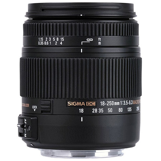 Objectif pour appareil photo Sigma 18-250mm f/3.5-6.3 DC MACRO OS HSM (Canon)