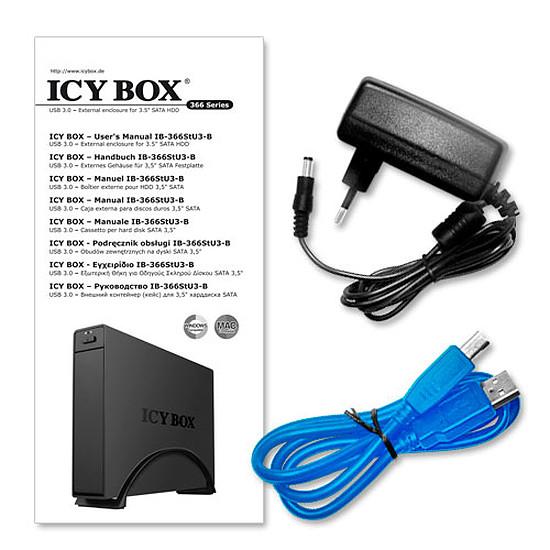 Boîtier pour disque dur Icy Box IB-366stu3+B - Autre vue