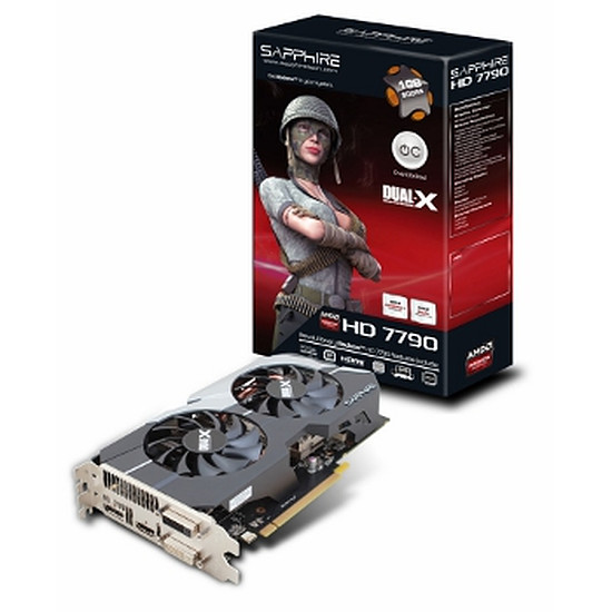 Carte graphique Sapphire Radeon HD 7790 Dual-X OC - 1 Go