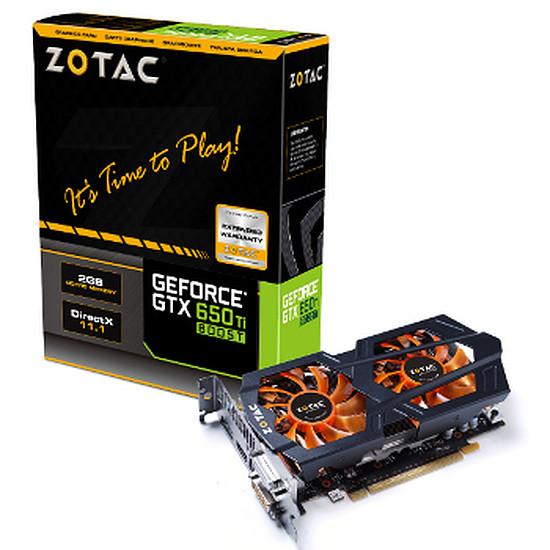 Carte graphique Zotac GeForce GTX 650 Ti Boost - 2 Go