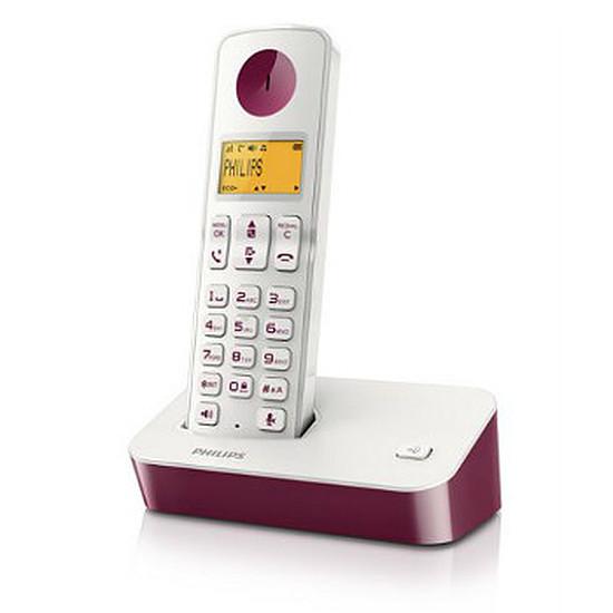 Téléphone fixe sans fil Philips D2001WP (violet)