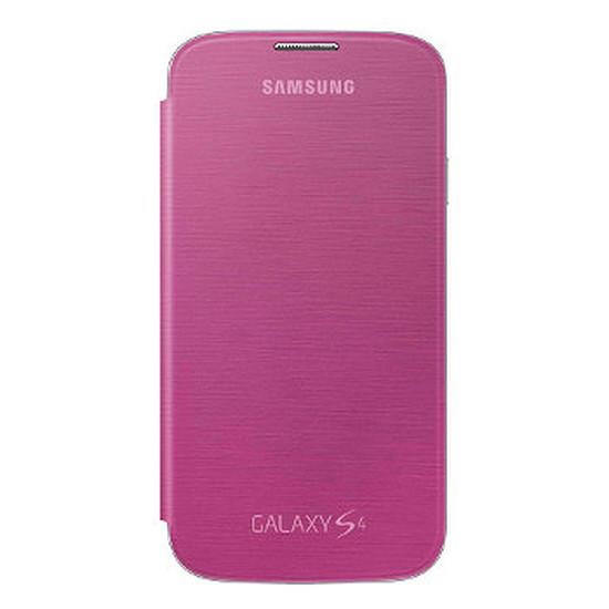 Coque et housse Samsung Etui Flip Cover (rose) - Galaxy S4