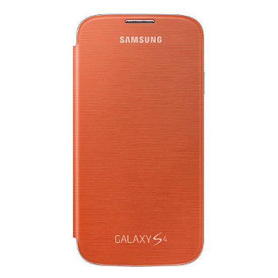 Coque et housse Samsung Etui Flip Cover (orange) - Galaxy S4