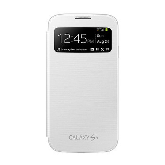 Coque et housse Samsung Etui Clear Cover - Galaxy S4 (blanc)