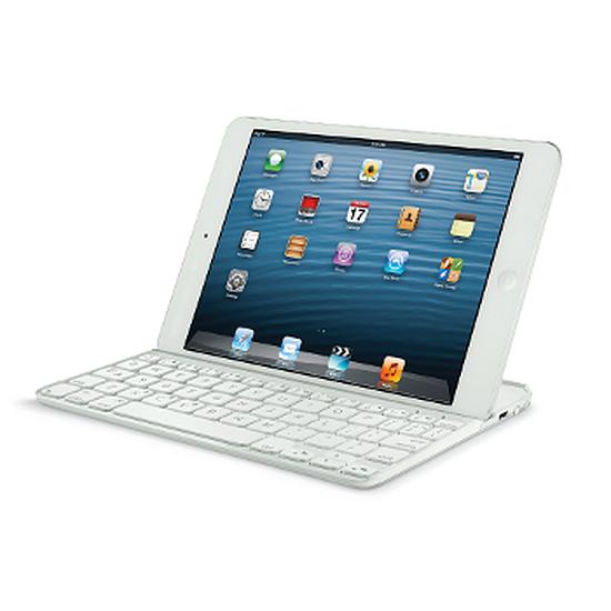 Accessoires tablette tactile Logitech Clavier Ultrathin Keyboard Cover iPad Mini (blanc)