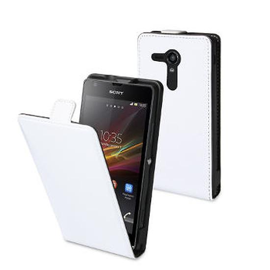 Coque et housse Muvit Etui à rabat Slimcover (blanc) - Sony Xperia SP