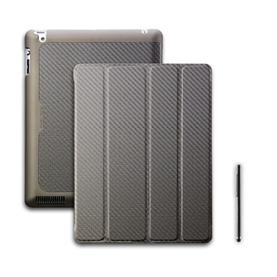 Accessoires tablette tactile Cooler Master Wake Up Folio Carbone + Stylet – Bronze