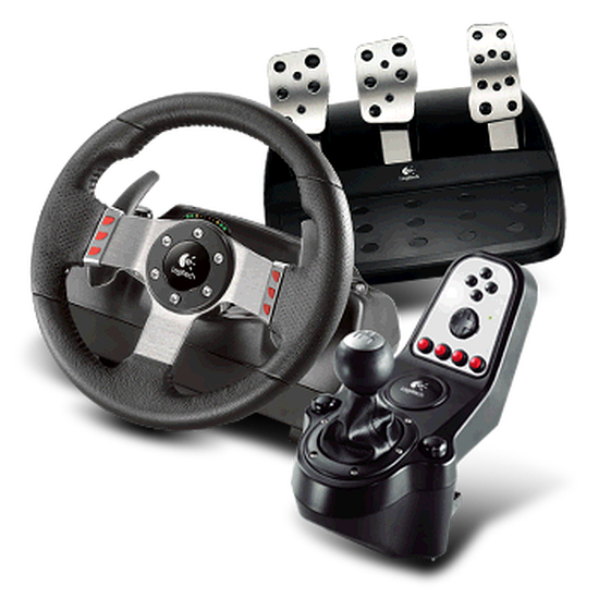 logitech g27 racing wheel pc simulation automobile. Black Bedroom Furniture Sets. Home Design Ideas