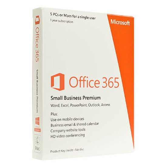 Office Microsoft Office 365 Petite Entreprise Premium 5 postes/1 an
