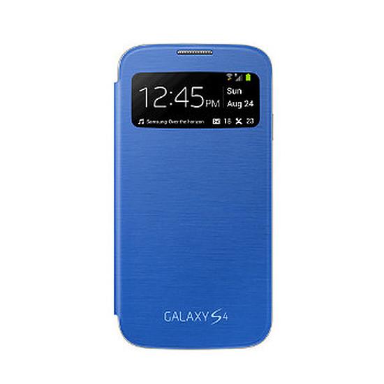 Coque et housse Samsung Etui Clear Cover - Galaxy S4 (bleu)