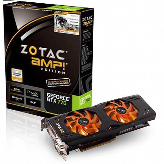 Carte graphique Zotac GeForce GTX 770 AMP Edition - 2 Go (ZT-70303-10P)