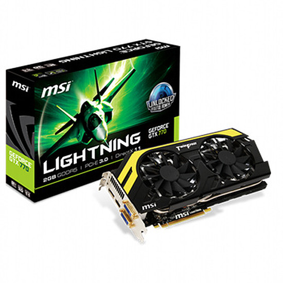Carte graphique MSI GeForce GTX 770 Lightning - 2 Go (N770 Lightning)