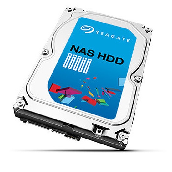Disque dur interne Seagate NAS HDD SATA III 6 Gb/s - 4 To