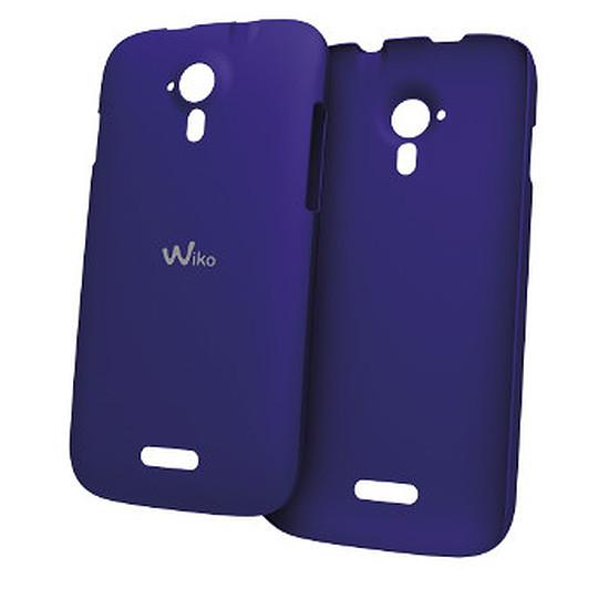 Coque et housse Wiko Etui à rabat (bleu) - Wiko Cink Five