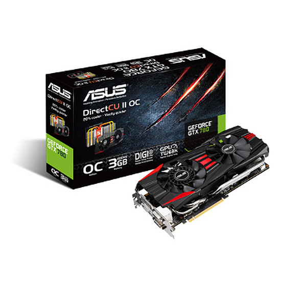 Carte graphique Asus GeForce GTX 780 OC - 3 Go  (GTX780-DC2OC-3GD5)