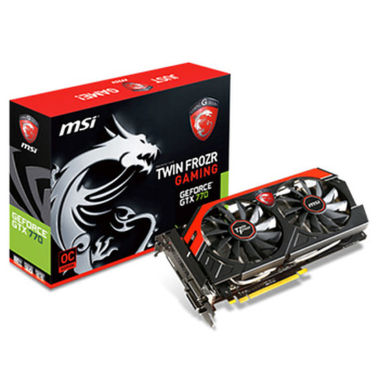 Carte graphique MSI GeForce GTX 770 - 4 Go (N770 TF 4GD5/OC)
